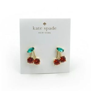 ❇️✳️💚NWT Kate Spade 12 it gold plated 🍒 Cherry